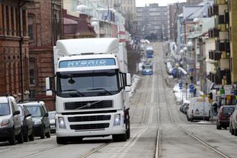 гибридный грузовик Volvo