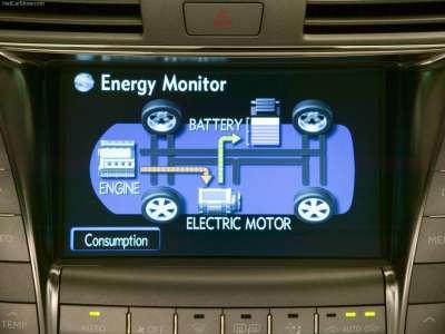 Lexus LS 600h L - экран