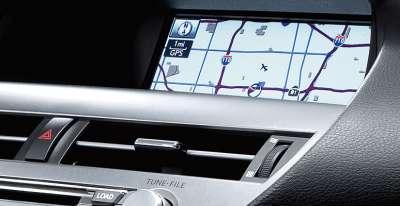 Lexus RX450h - экран навигационной системы