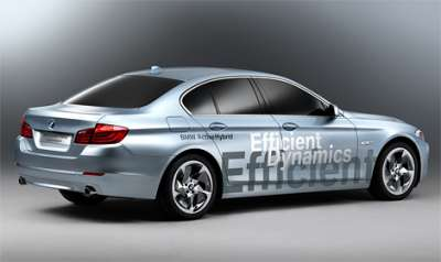 BMW 5-Series Active Hybrid Вид ссади